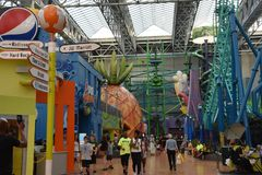 Universo de Nickelodeon em Bloomington, Minnesota Imagem de Stock