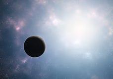 Universo dello spazio della luce intensa del pianeta Fotografie Stock
