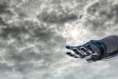 Universo e scienza dell'umanità Immagini Stock Libere da Diritti