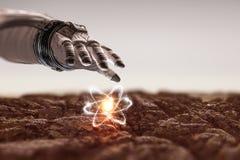 Universo e scienza dell'umanità Immagine Stock Libera da Diritti