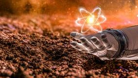 Universo e scienza dell'umanità Fotografia Stock Libera da Diritti
