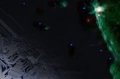 Universo, espaço e tecnologia Fotografia de Stock Royalty Free