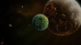 Universo futuro ilustración del vector