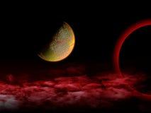 Universo rojo Fotos de archivo