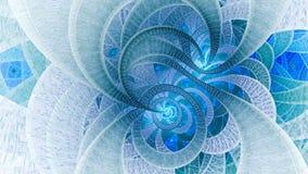 Universo a spirale Figure astratte di frattalo royalty illustrazione gratis