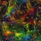 Universo variopinto astratto Cielo stellato di notte colorato arcobaleno Spazio cosmico multicolore Priorità bassa di struttura V illustrazione di stock