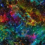 Universo variopinto astratto Cielo stellato di notte della nebulosa Spazio cosmico multicolore Priorità bassa di struttura Vettor illustrazione vettoriale