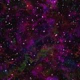 Universo viola astratto Cielo stellato della nebulosa porpora Spazio cosmico magenta Fondo galattico di struttura Vettore senza g illustrazione vettoriale