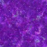 Universo viola brillante astratto Cielo stellato di notte nuvolosa Spazio cosmico porpora della nebulosa Priorità bassa di strutt illustrazione vettoriale