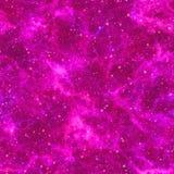 Universo violeta abstrato Céu estrelado da noite da nebulosa O espaço roxo Fundo de brilho da textura Vetor sem emenda ilustração royalty free