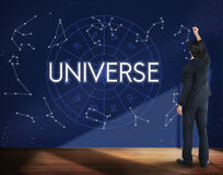 Universum-abstraktes Knall-Galaxie-Unendlichkeits-Wissenschafts-Konzept Stockbild