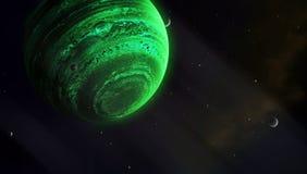 Universum av gasjättar Arkivbilder