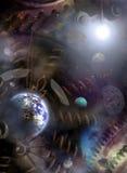 Universum-Borduhr Stockbild