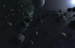 universum för 2 blue Arkivbild