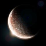universum för jordutforskningsoluppgång Arkivbild