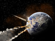 universum för utforskningexplosionplanet Arkivfoto