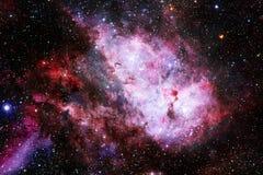 Universum f?llte Sterne, Nebelfleck und Galaxie Kosmische Kunst, Zukunftsromantapete stockfoto