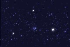 Universum fyllde med stjärnor Blå stjärnklar himmelvektorbakgrund Arkivbild