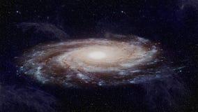 Universum med en härlig galaxsnurr och stjärnor och nebulosa royaltyfri illustrationer