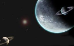 Universum mit Planeten Stockfoto