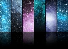 Universum, Sterne, Konstellationen und Planeten Stockfotos