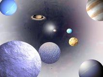 Universum - Wissenschaftshintergründe Lizenzfreies Stockbild