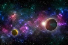 Universumeffekt stockbilder