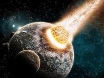 Universumerforschung - Erdeende der Zeit Lizenzfreie Stockfotos