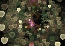 Universumet av förälskelse - abstrakt färgrik Shape 3D illustration Royaltyfri Bild