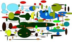 Universumet i otänkbart kaos royaltyfri illustrationer