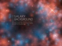 Universumgalax- och nattstjärnor royaltyfri illustrationer