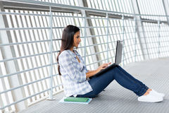Univesity student laptop Royalty Free Stock Photos