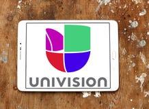 Univision tv-nätetlogo Arkivbild