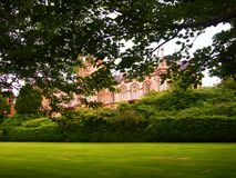 Uniwersity. View of the university in the foreground lawn Stock Photo