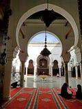 Uniwersytecki i Meczetowy al Al Quaraouiyine lub al, Fes, fez, Maroko, Afryka fotografia stock