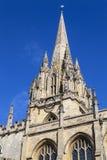 Uniwersytecki kościół St Mary dziewica w Oxford Obraz Royalty Free