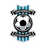 Uniwersytecki turniej, piłka nożna logo Obraz Stock
