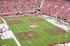 Uniwersytet Alabama Milion Dolarowych zespołów pregame Obrazy Royalty Free