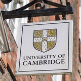 Uniwersytet Cambridge znak Zdjęcie Royalty Free