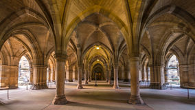 Uniwersytet Glasgow Cloisters Zdjęcia Royalty Free