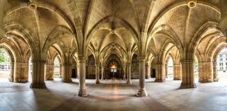 Uniwersytet Glasgow Cloisters, Szkocja Obrazy Royalty Free