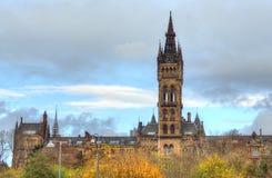 Uniwersytet Glasgow Główny budynek - Szkocja Obrazy Stock