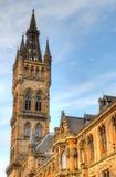 Uniwersytet Glasgow Główny budynek - Szkocja Zdjęcia Royalty Free