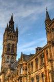 Uniwersytet Glasgow Główny budynek - Szkocja Zdjęcia Stock