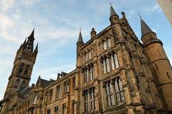 Uniwersytet Glasgow Główny budynek - Szkocja Obrazy Royalty Free