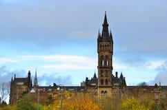Uniwersytet Glasgow Główny budynek - Szkocja Obraz Stock