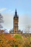 Uniwersytet Glasgow Główny budynek - Szkocja Fotografia Royalty Free