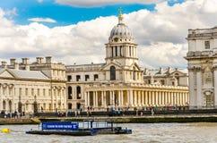 Uniwersytet Greenwich i Stary Królewski Morski kolaż od Rzecznego Thames, Londyn Zdjęcie Royalty Free