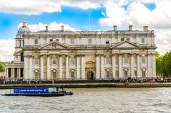 Uniwersytet Greenwich i Stary Królewski Morski kolaż od Rzecznego Thames, Londyn Obrazy Stock