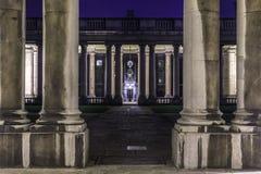 Uniwersytet Greenwich przy nocą obrazy royalty free